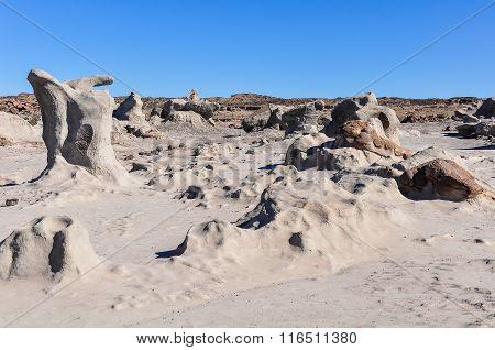Strange Rock Formations In The Ischigualasto National Park, Argentina