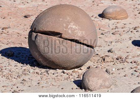 Round Stones In The Ischigualasto National Park, Argentina