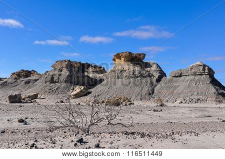 Rock Formation In The Ischigualasto National Park, Argentina