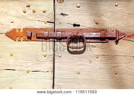 Europe Old In  Italy    Rusty Lock  Closeup