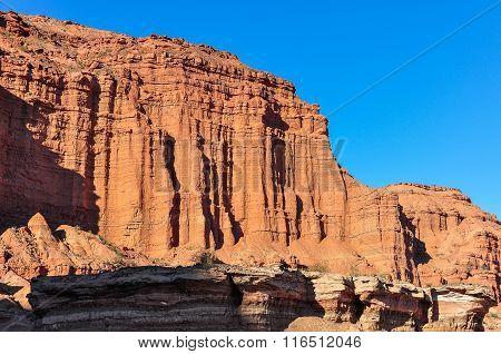 Las Coloradas Red Cliff In The Ischigualasto National Park, Argentina