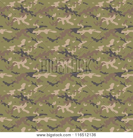 Camouflage Multi Seamless Tile Pattern