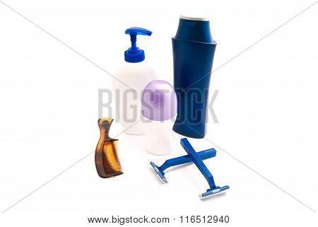 Shower Gel, Shampoo, Razors And Deodorant