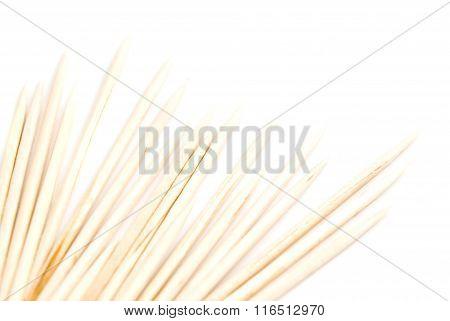 Heap Of Toothpicks On White