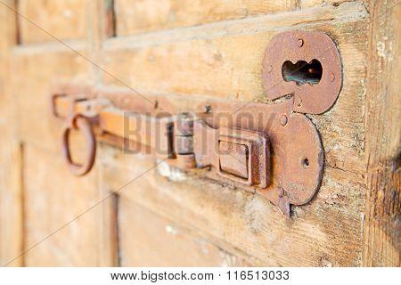 Europe Old In  Italy  Antique Close Brown Door
