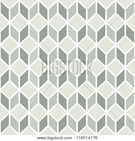 Grey And White Cube Seamless Pattern.