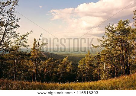View From The Sugomak Mountain, Southern Urals, Creative Filter Processing