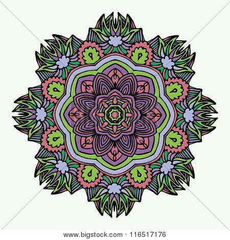 Mandala Round Zentangle Ornament Pattern Vector