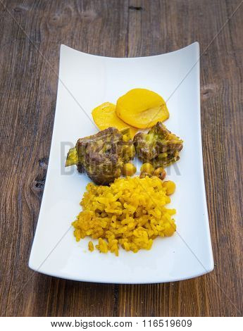 rice dish with meat