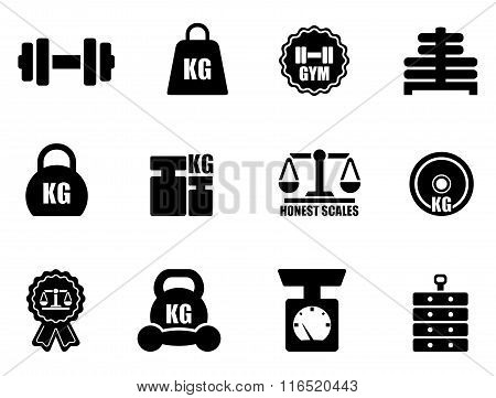 scales and weighing icon set