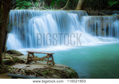 Waterfall In The Forest At Huay Mae Kamin Waterfall National Park, Thailand