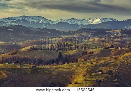 Romanian Countryside Landscape