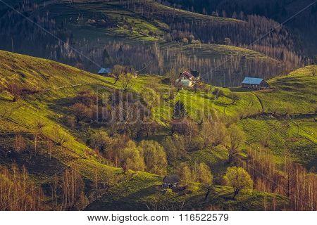 Traditional Romanian Mountain Hamlet