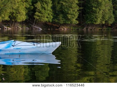 Kayak On A Calm Bay In Summertime