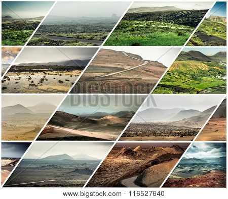 volcanic mountain scenery in Lanzarote