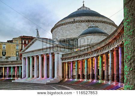 Piazza Del Plebiscito, Naples.