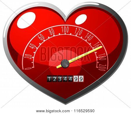 Love meter vector illustration
