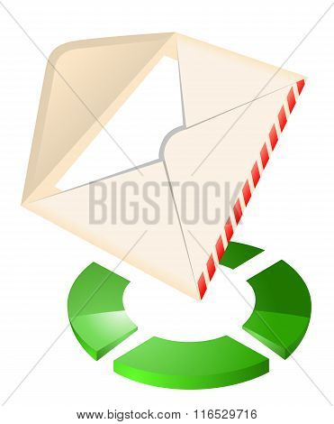 Mail icon vector illustration