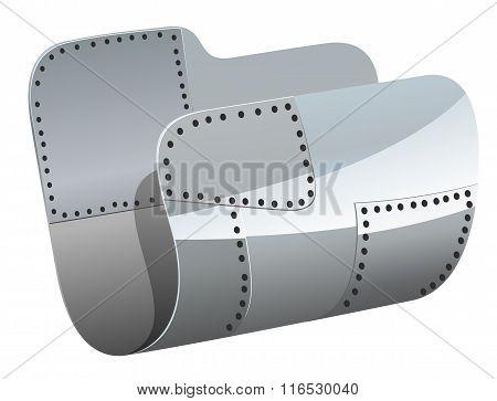 Steel folder vector illustration