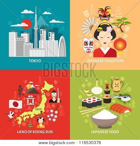 Japan Concept Icons Set