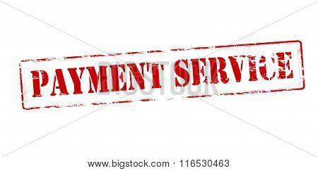 Rubber stamp with text payment service inside vector illustration