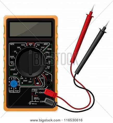 Digital multimeter vector illustration