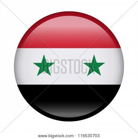 Syria Button Flag