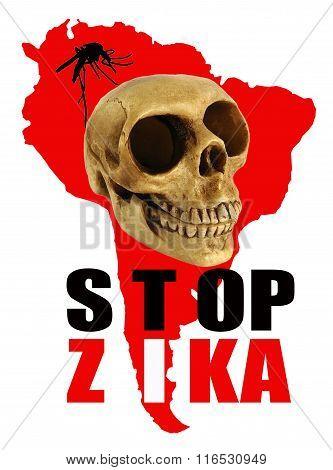 Stop Zika Warning Sign