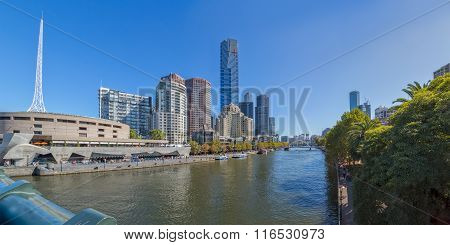 Melbourne Southbank panorama