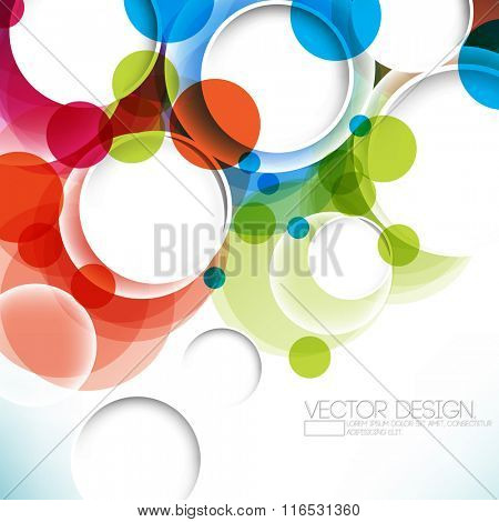 multicolored background overlapping geometric circle concept design