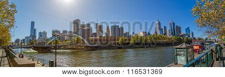 Melbourne city panorama