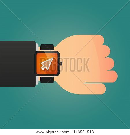 Isolated Smart Watch Icon With A Cursor