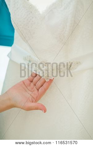 Close Up Of A Wedding Dress