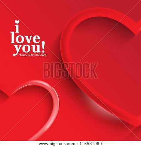 isolated red hearts symbol valentine's day background illustration