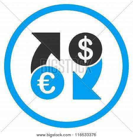 Dollar Euro Exchange Rounded Icon