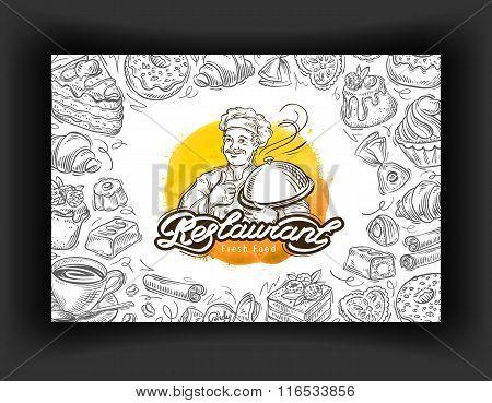 restaurant vector logo design template. cafe, eatery or dessert icons