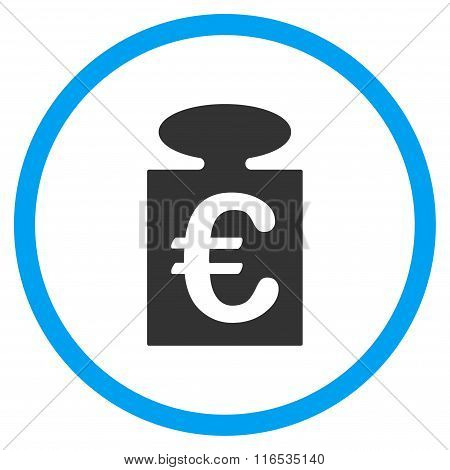 Euro Weight Rounded Flat Icon