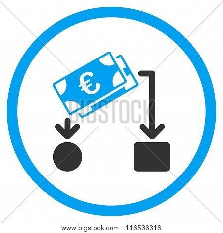 Euro Cash Flow Rounded Icon