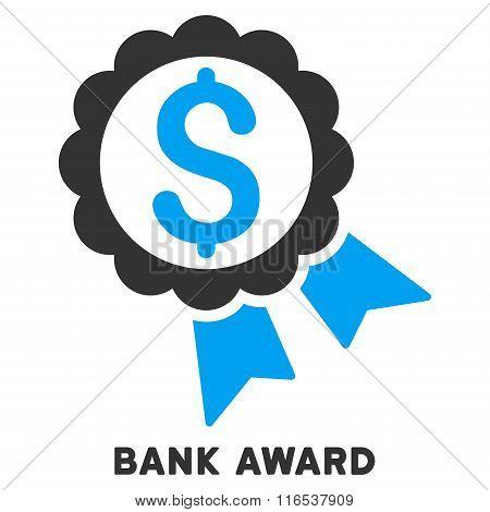 Bank Award Vector Icon With Caption