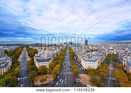 All-round view from Arc de Triumph