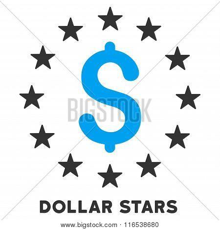 Dollar Stars Vector Icon With Caption