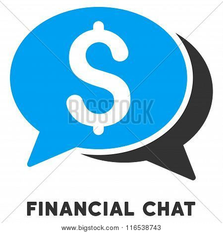 Financial Chat Vector Icon With Caption