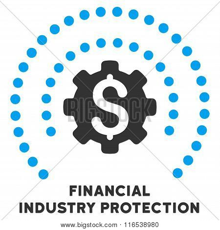 Financial Industry Protection Vector Icon With Caption