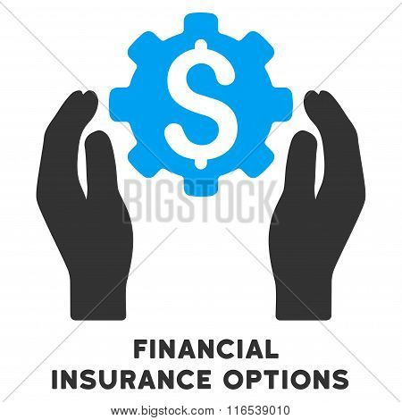 Financial Insurance Options Vector Icon With Caption