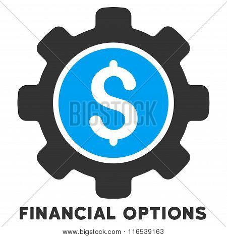 Financial Options Vector Icon With Caption