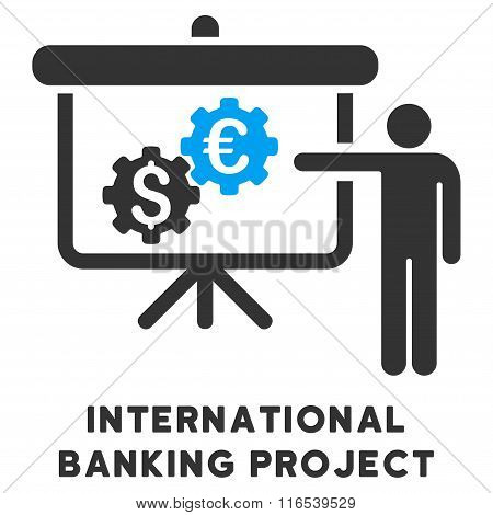 International Banking Project Vector Icon With Caption