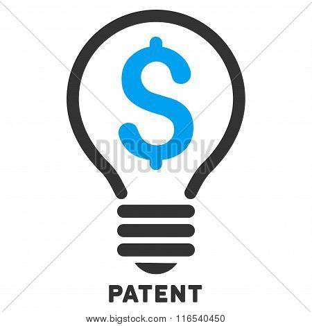 Patent Vector Icon With Caption