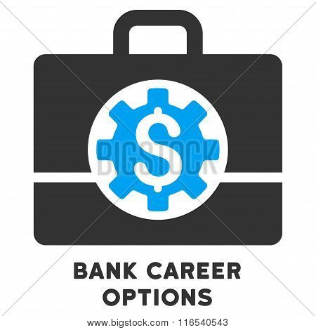 Bank Career Options Glyph Icon With Caption
