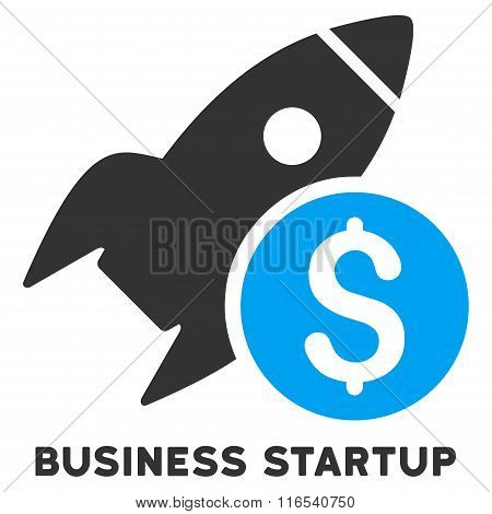 Business Startup Glyph Icon With Caption