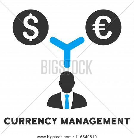 Currency Management Glyph Icon With Caption